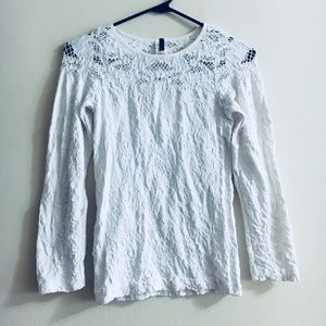 Tops - White Textured Top
